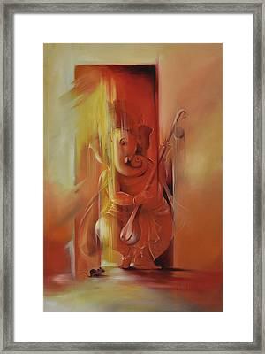 Ganesha Pitambara Framed Print by Durshit Bhaskar