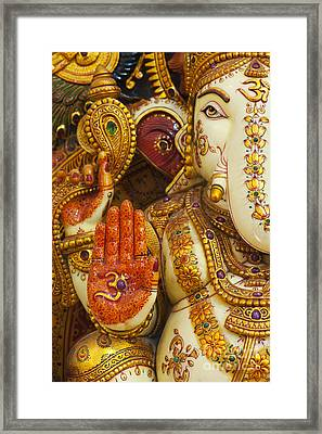 Ornate Ganesha Framed Print by Tim Gainey