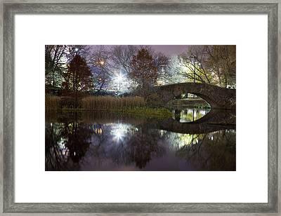 Gapstow Bridge Framed Print by Mike Lang