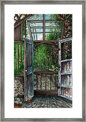 Garden Backyard Framed Print by Steven Schultz