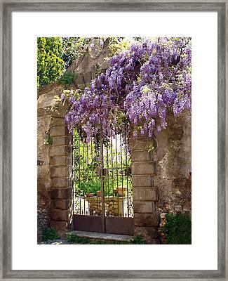 Garden Gate Framed Print