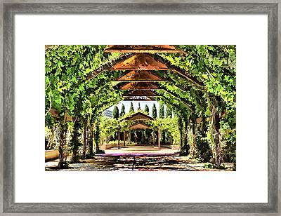 Framed Print featuring the painting Garden by Muhie Kanawati