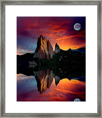 Garden Reflections Framed Print