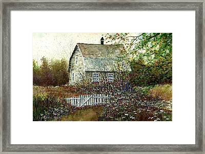 Garden Shed Framed Print by Steven Schultz