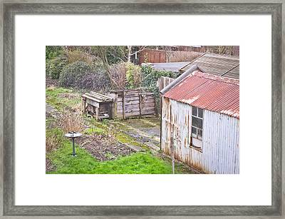 Garden Shed Framed Print by Tom Gowanlock