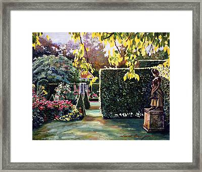 Garden Statue Framed Print by David Lloyd Glover