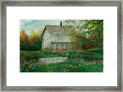 Gardening Shed Framed Print by Steven Schultz