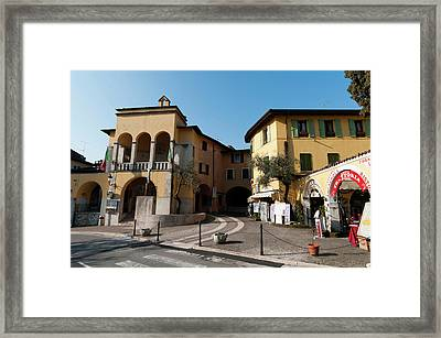Gardone Alta, Lago Di Garda, Lombardia Framed Print