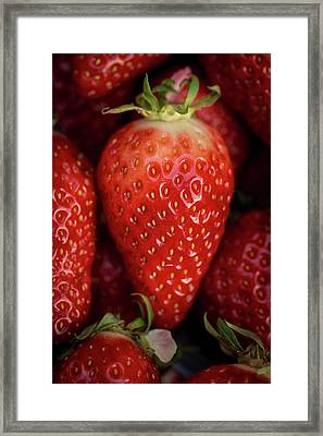 Gariguette Strawberries Framed Print by Aberration Films Ltd
