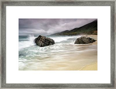 Garrapata Beach Ca Framed Print