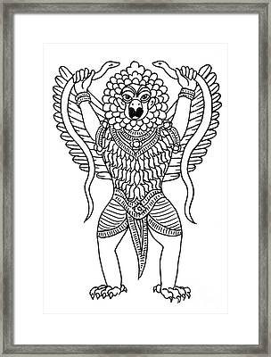 Garuda, The Vahana Of Lord Vishnu Framed Print