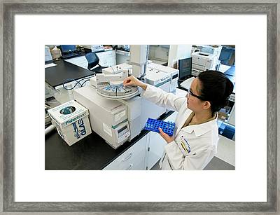 Gas Chromatography Machine Framed Print by Food & Drug Administration