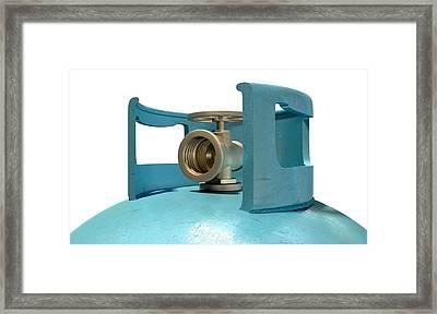 Gas Cylinder Valve Closeup Framed Print by Allan Swart