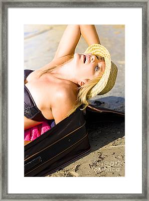 Gasping For Breath Framed Print