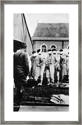 Gassed Soldiers Framed Print by National Library Of Medicine