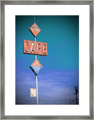 Gaston's Cafe Framed Print by Charlette Miller