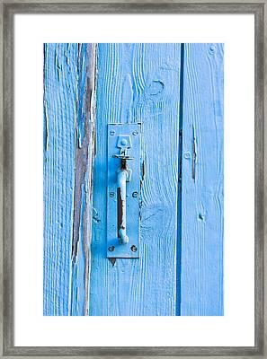 Gate Handle Framed Print by Tom Gowanlock