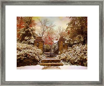 Winter Gates Framed Print by Jessica Jenney