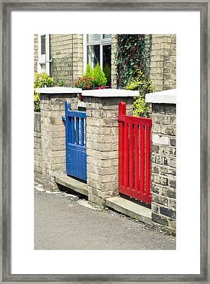 Gates Framed Print by Tom Gowanlock