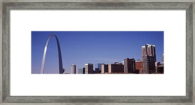 Gateway Arch With City Skyline Framed Print