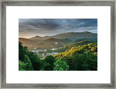 Gatlinburg Tennessee Great Smoky Mountain Sunrise Framed Print by Mark VanDyke