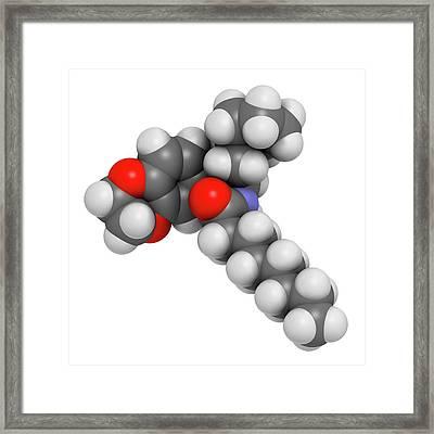 Gaucher Disease Drug Molecule Framed Print by Molekuul
