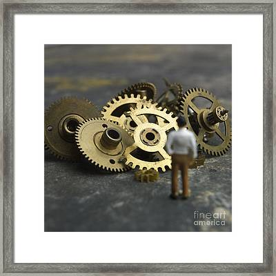 Gears Framed Print by Bernard Jaubert