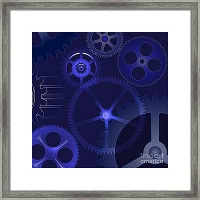 Gears Framed Print by Michal Boubin