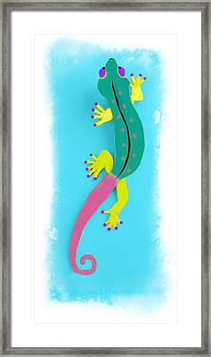 Gecko Two Framed Print