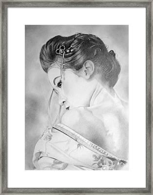 Geisha  Framed Print by Melanie Spencer