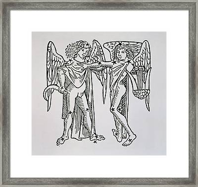 Gemini An Illustration Framed Print