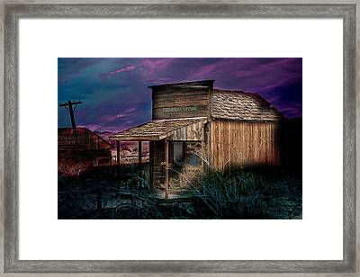 Framed Print featuring the photograph General Store by Gunter Nezhoda