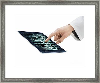 Genetic Analysis, Conceptual Image Framed Print by Science Photo Library