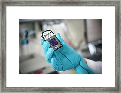 Genetic Microarray Preparation Framed Print by Arno Massee