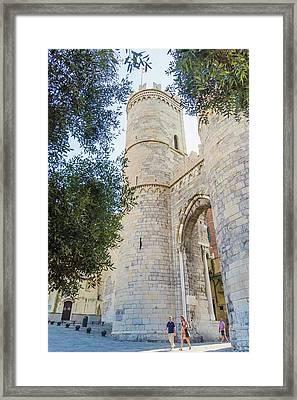 Genoa, Italy. Porta Soprana Framed Print by Ken Welsh