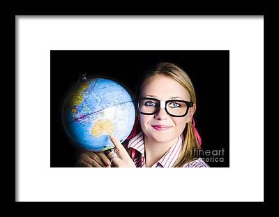 World Schooling Framed Prints