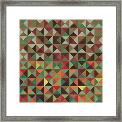 Framed Print featuring the digital art Geometric Pattern by Mike Taylor