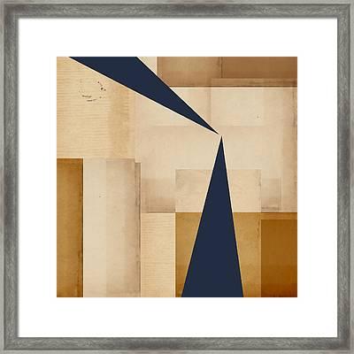 Geometry Indigo Number 5 Framed Print