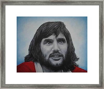 George Best 'belfast Boy' Framed Print by David Dunne