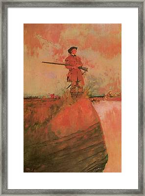 George Rogers Clark On His Way To Kaskaskia Framed Print by Howard Pyle
