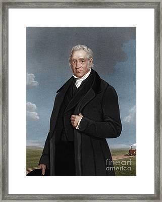 George Stephenson, British Engineer Framed Print