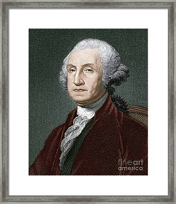 George Washington, First Us President Framed Print