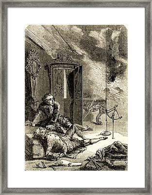 George Wilhelm Richmann Framed Print by Universal History Archive/uig