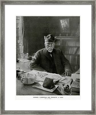 Georges Clemenceau  French Statesman Framed Print by Mary Evans Picture Library