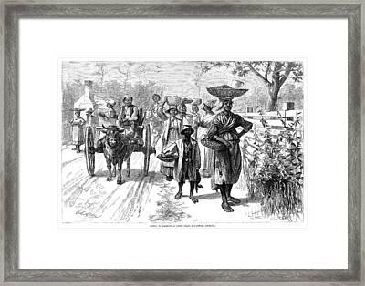 Georgia Market, 1875 Framed Print