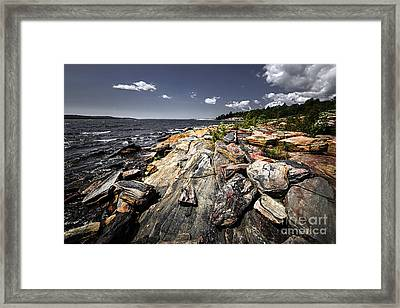 Georgian Bay Shore Framed Print by Elena Elisseeva