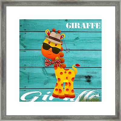 Georgie Giraffe Collection Framed Print by Marvin Blaine