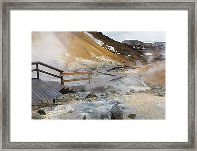 Geothermal Area Seltun Heated Framed Print