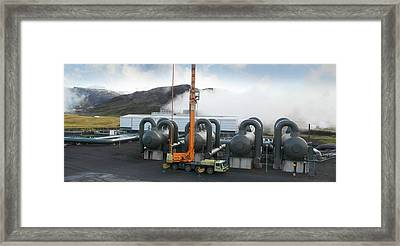 Geothermal Power Station Framed Print by Tony Craddock