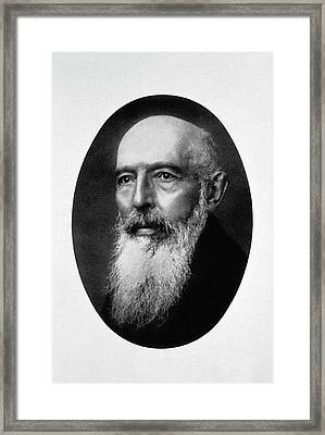 Gerhard Hansen Framed Print by National Library Of Medicine